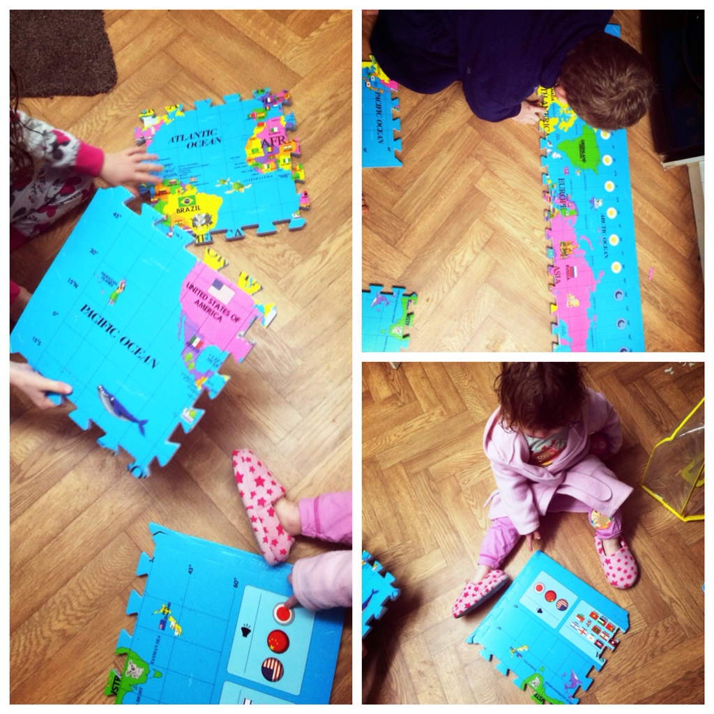 World map puzzle playmat bizzimummy the playmats come from a company called soft floor kids they sell various designs and the world map seems to be a very popular choice both for parents and gumiabroncs Image collections